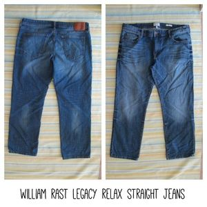 ✨ William Rast Legacy Relax Straight Jeans 40 x 30
